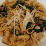 Pasta With Sausage, White Beans, Spinach and Tomato