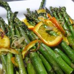 Roasted Asparagus with Orange Slices