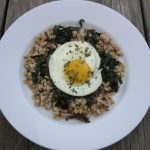 Slow Breakfast: Fried Egg, Crisp Kale on Crunchy Barley