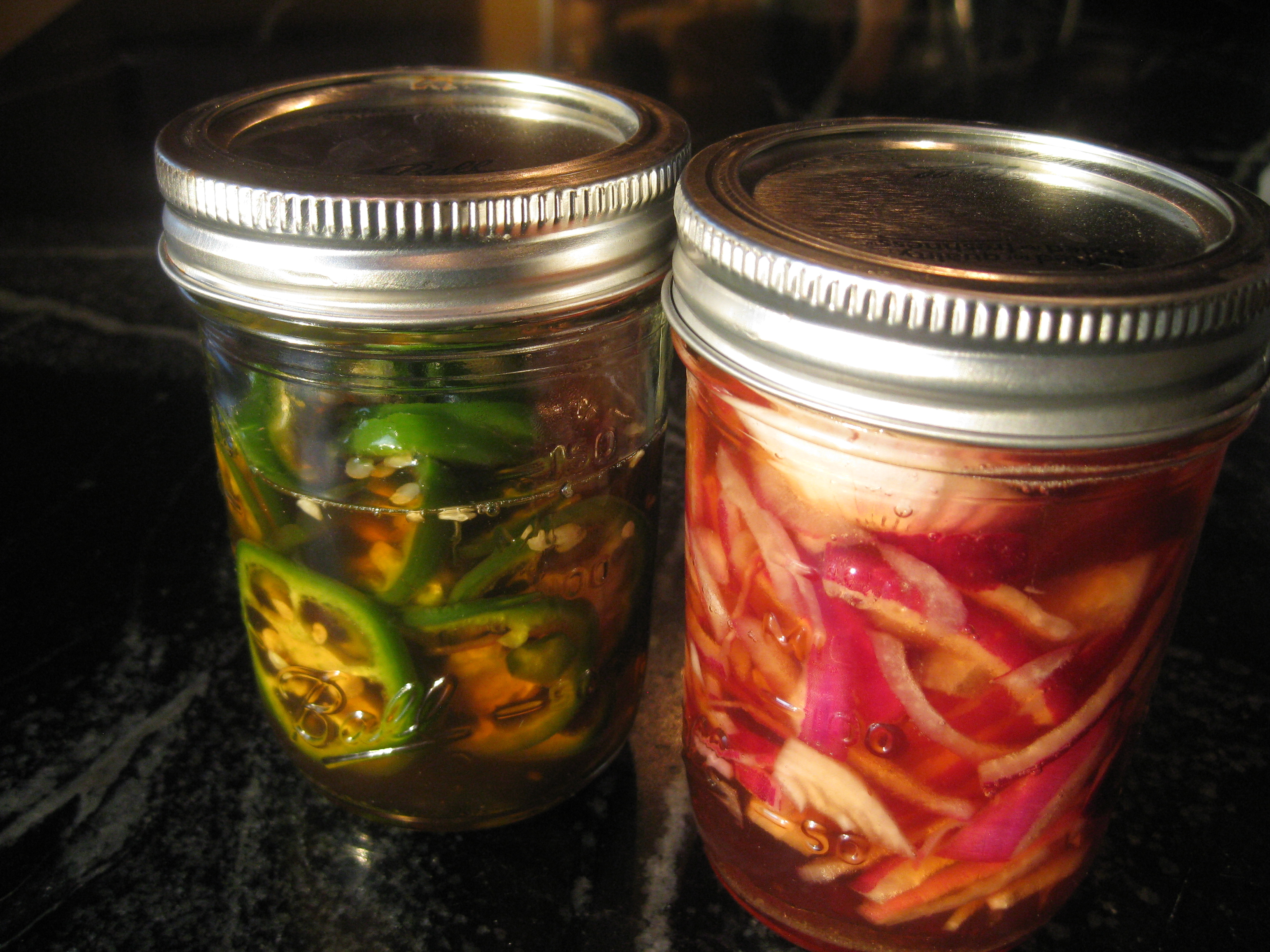 pickled jalapeno and red onion