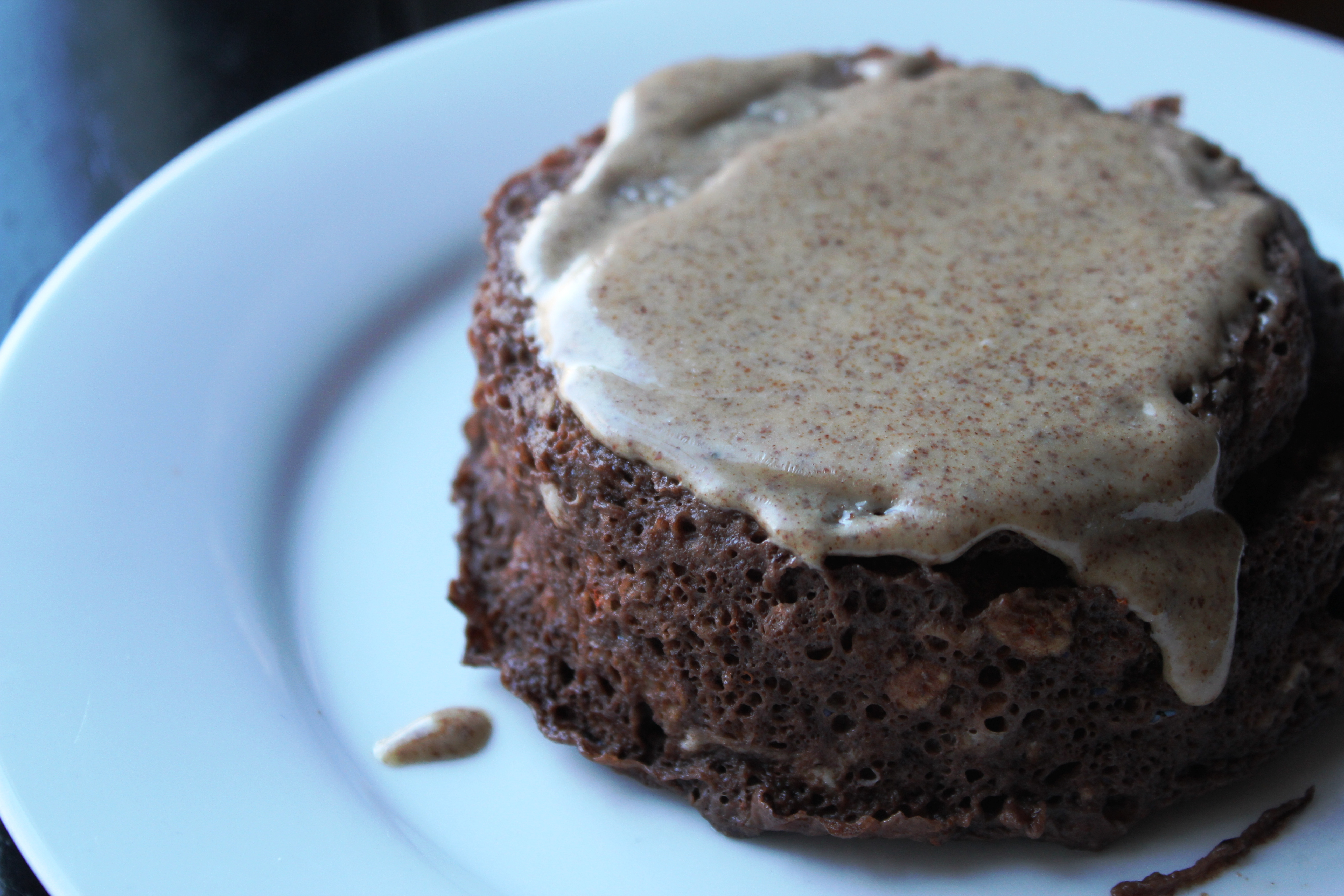 chocolate protein cake for breakfast