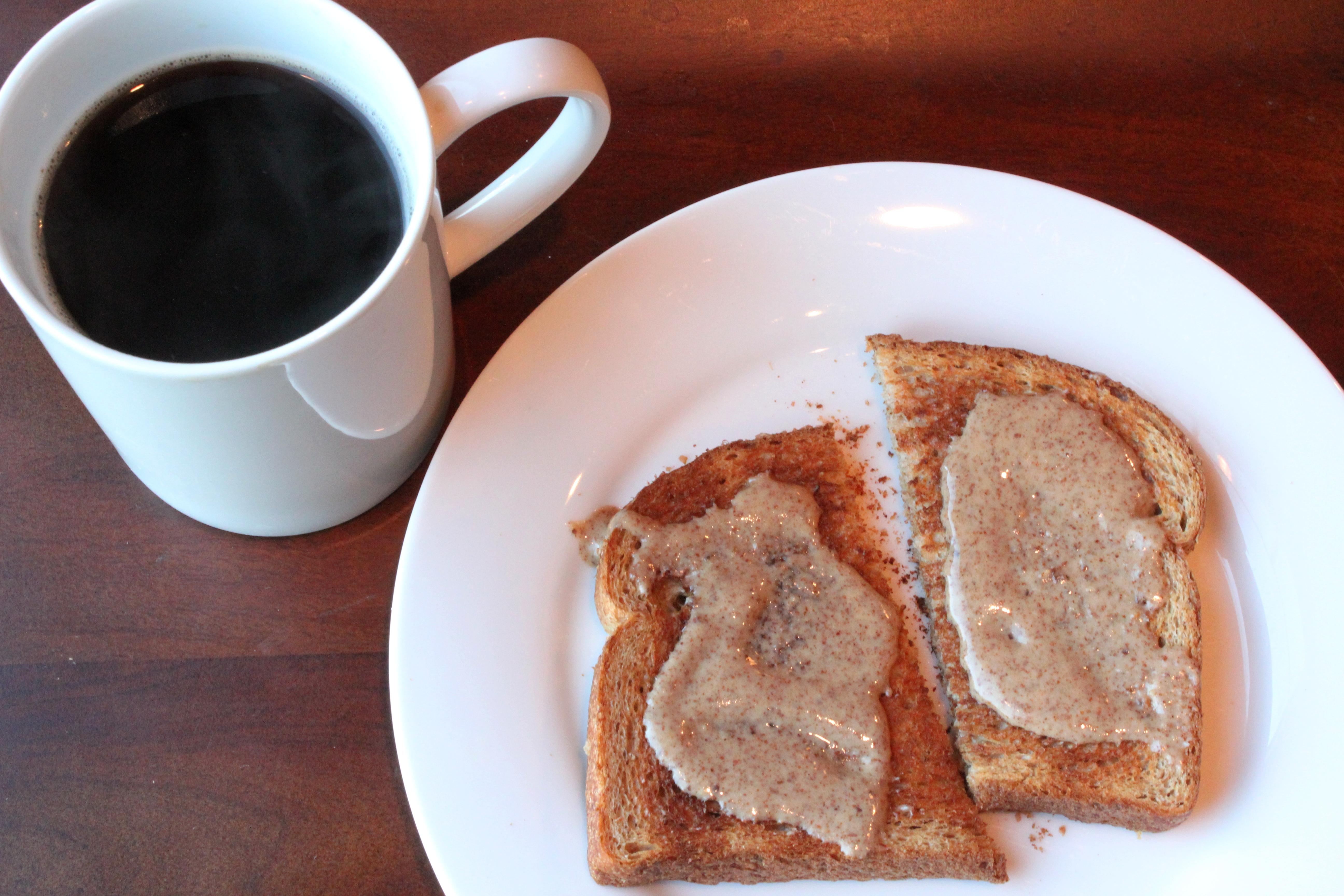 almond butter on toast