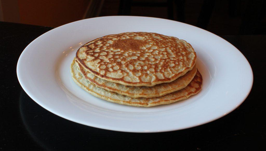 Lemon Oatmeal Ricotta Pancakes