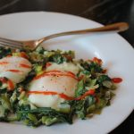 Skillet Eggs with Leeks and Spinach
