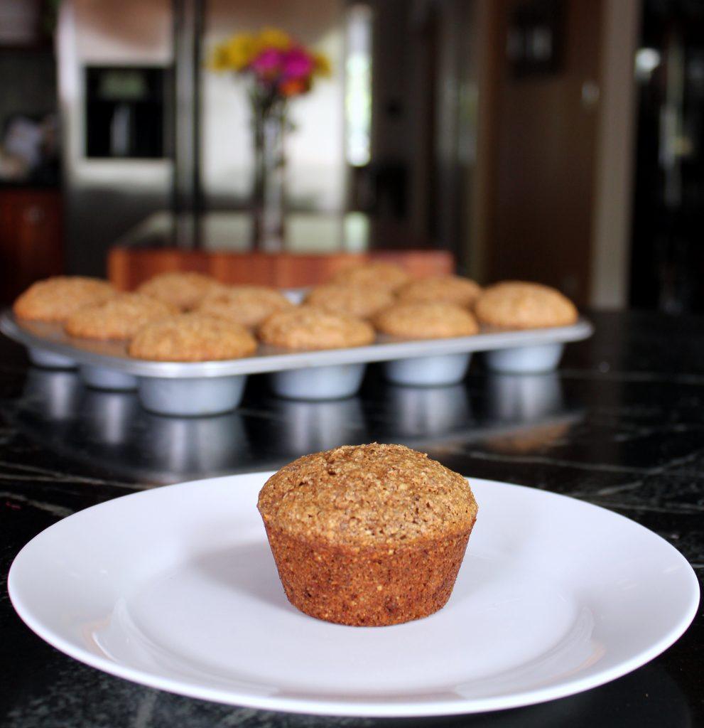 flax oat  bran zucchini muffin