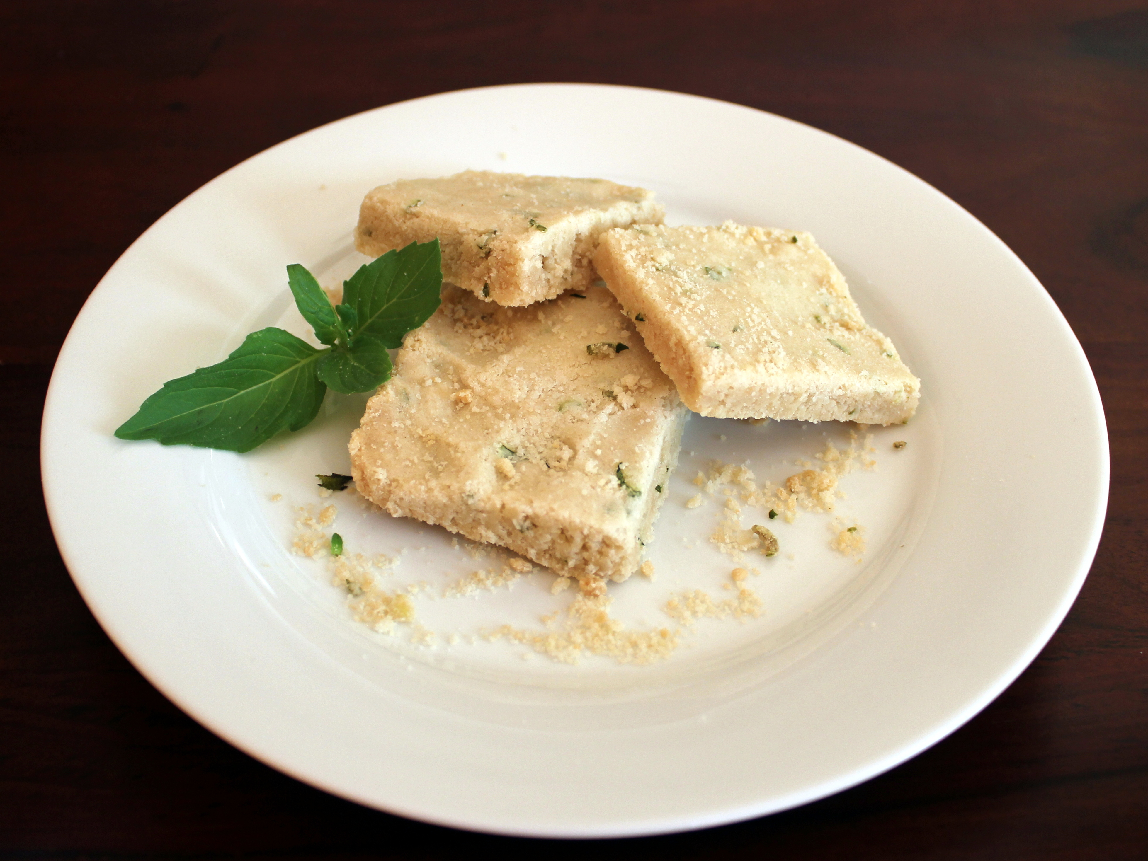 lemon basil shortbread