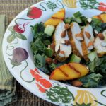 Grilled Peach and Chicken Kale Salad