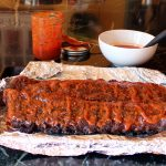Laboring {Cherry Bourbon BBQ Ribs}