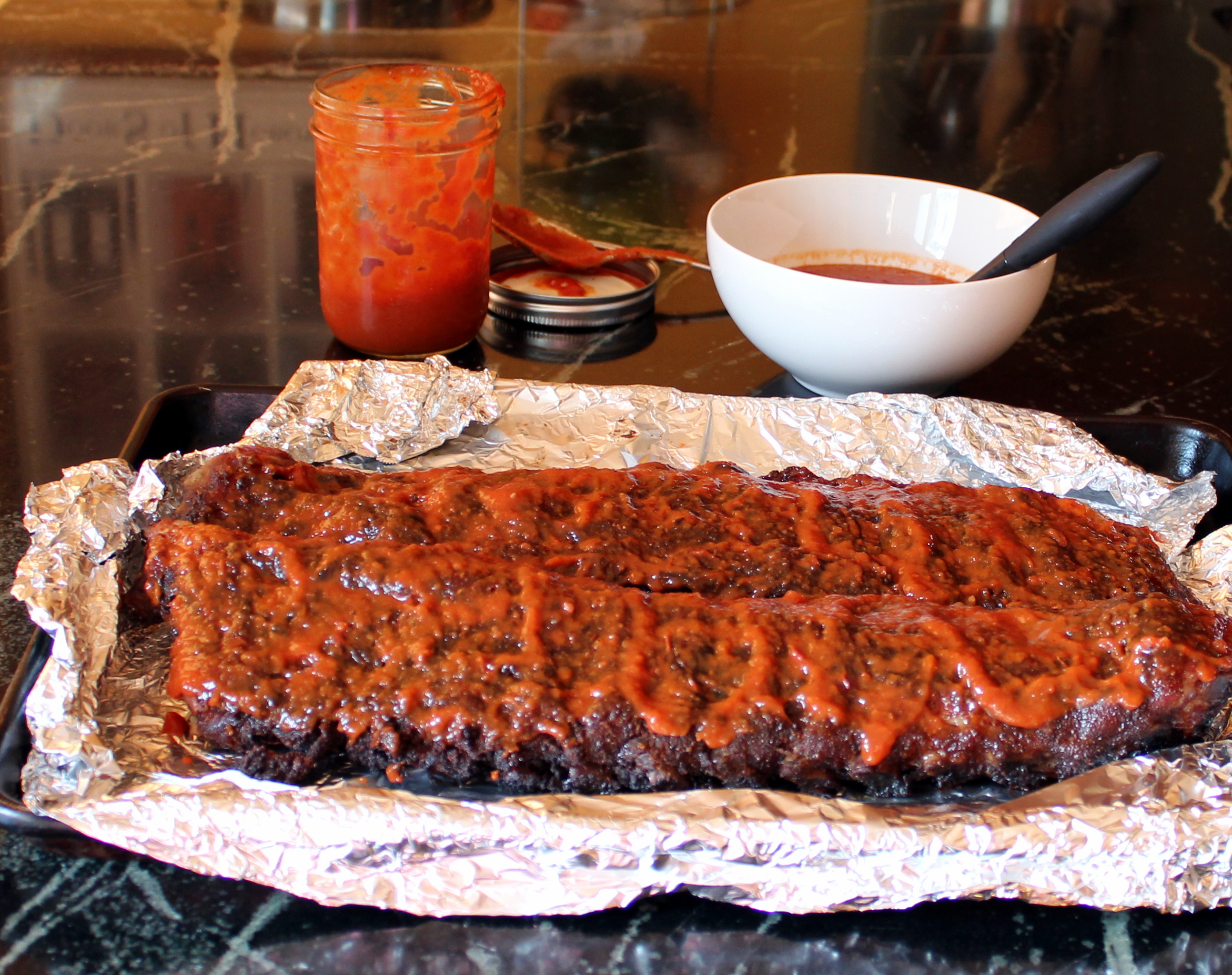 Ribs With Spicy Bourbon Barbecue Sauce Recipes — Dishmaps