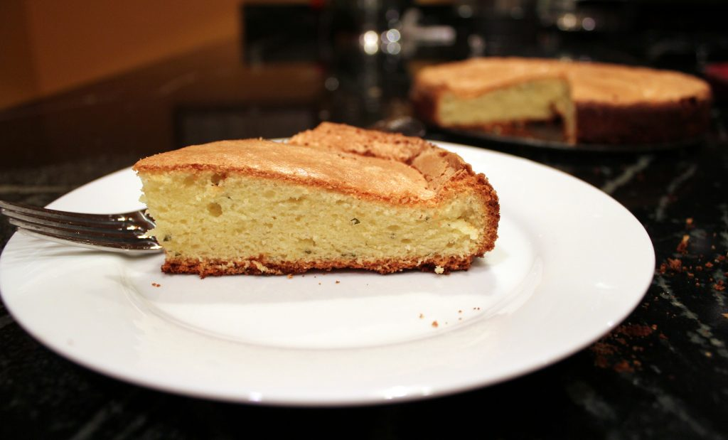 lemon basil olive oil cake