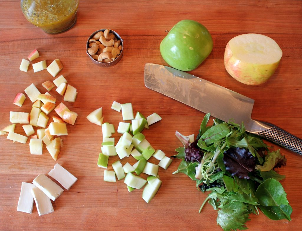 apple brie cashew salad