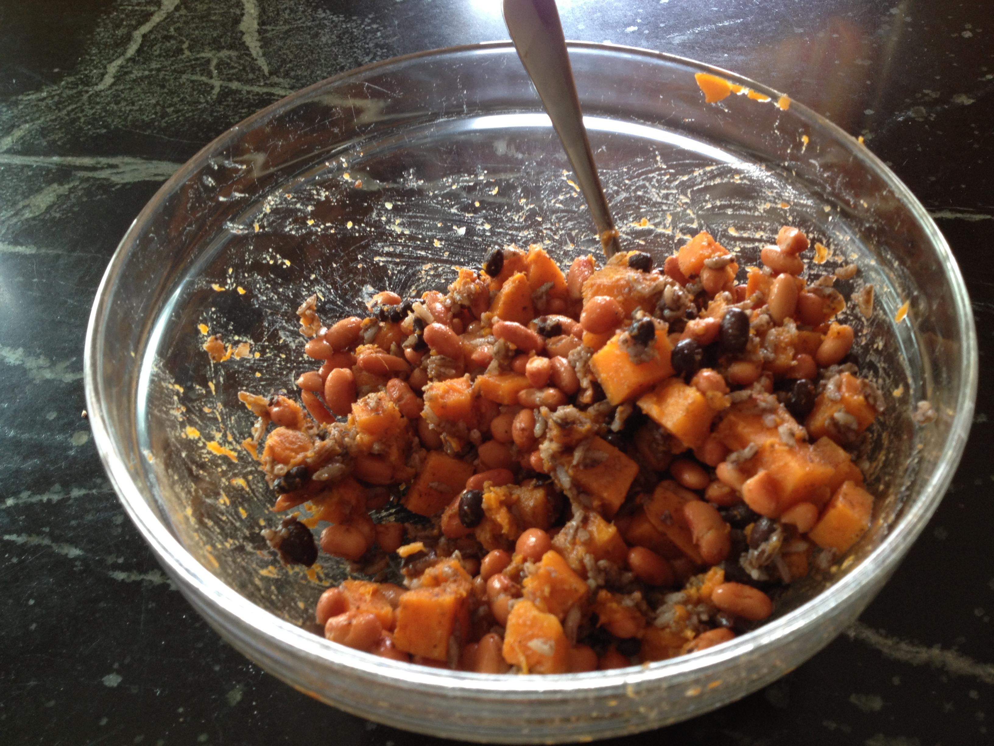 Sweet Potato and Bean Enchiladas (a)