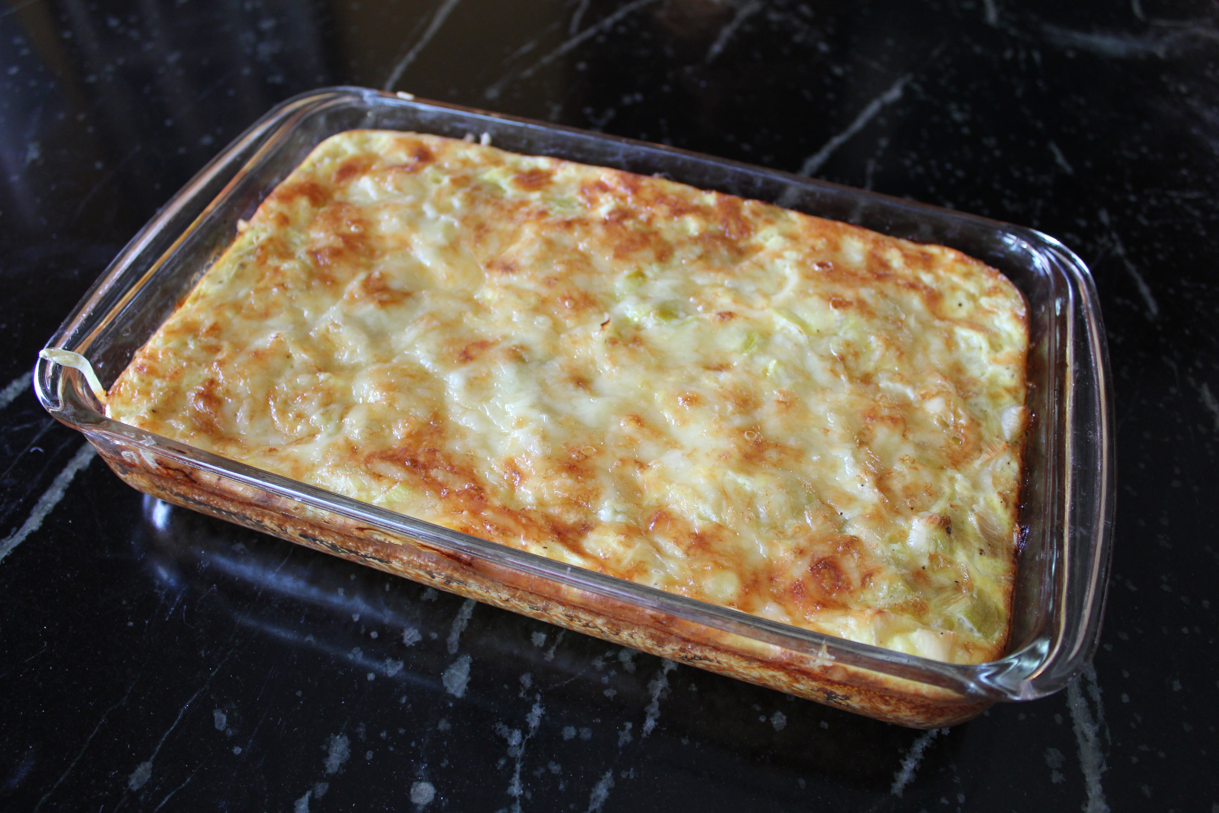 egg casserole with rice crust