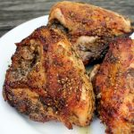 Perfect Roasted Chicken with Preserved Lemon Sauce