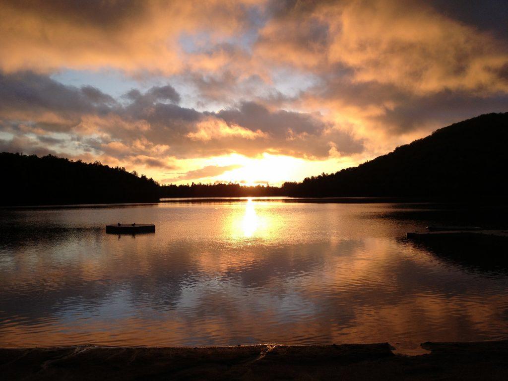 Auberge du Lac Morency Sunrise