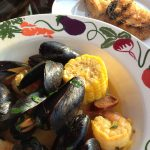 Grillin' and Chillin' {Steamed Shrimp and Mussels with Chorizo}