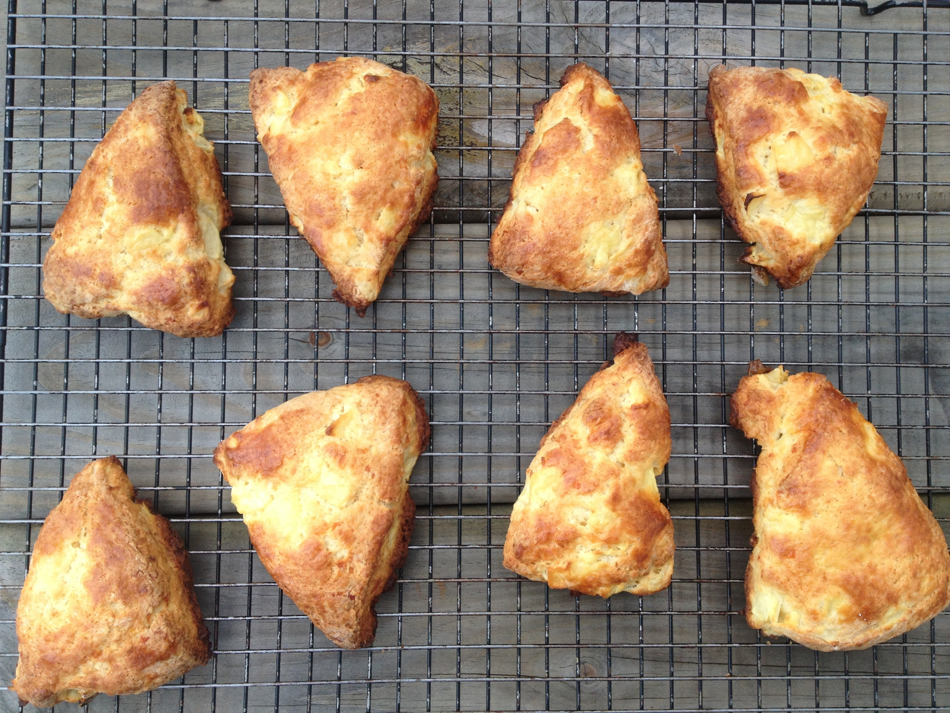 Apple and White Cheddar Scones