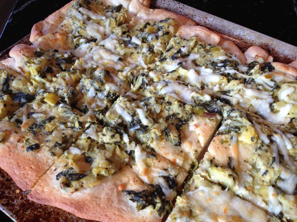 Artichoke Dip Pizza