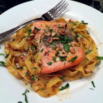 Fettuccine with Spice Butter and Salmon