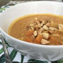 Malaysian Cabbage and Peanut Soup