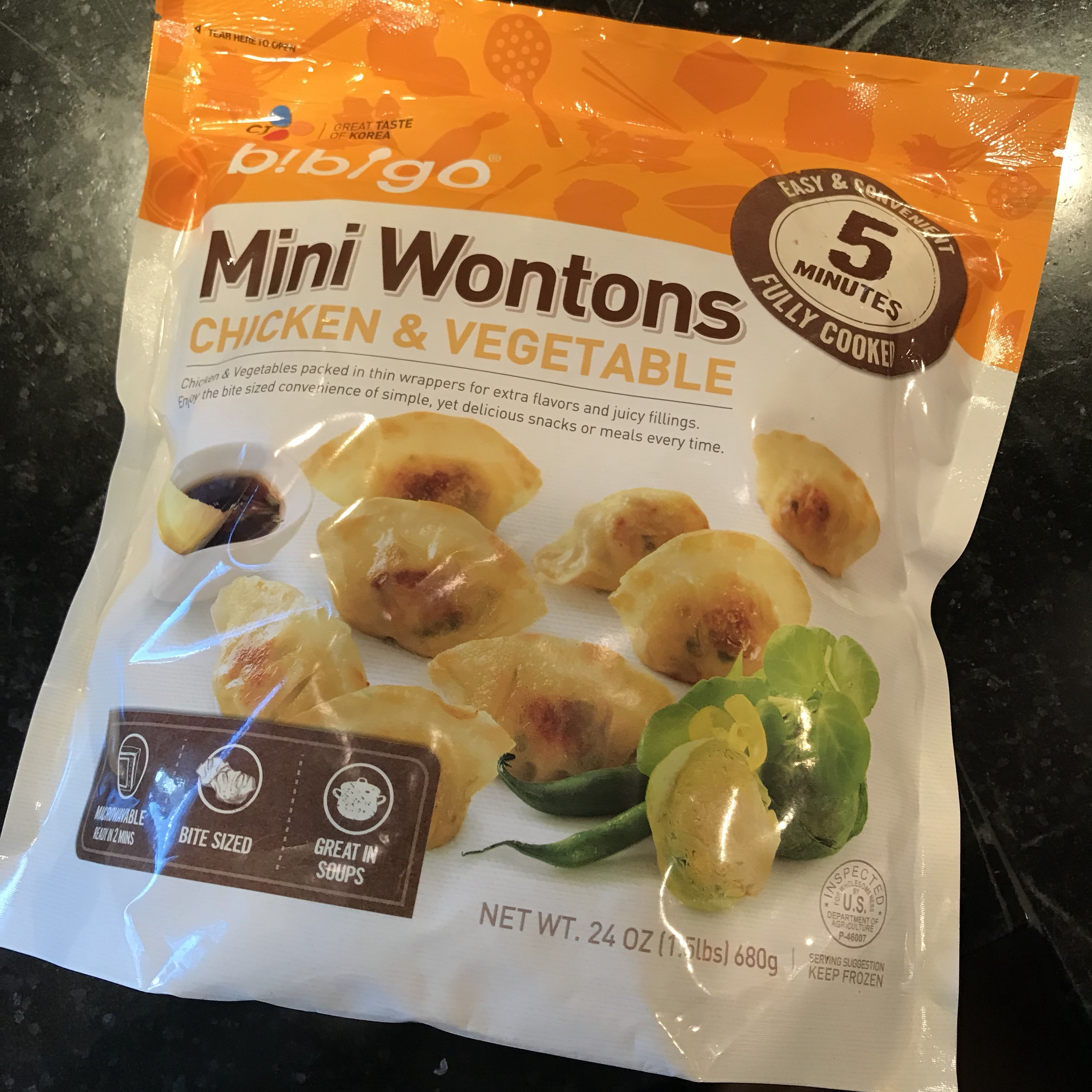 Mini Wontons in Spicy Broth
