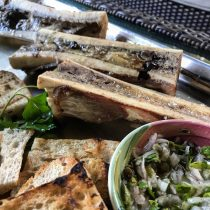 Roast Marrow Bone with Parsley Salad